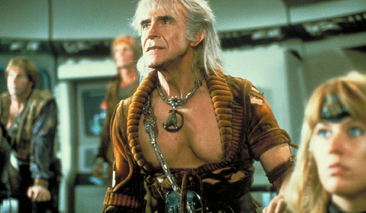 Star Trek II: The Wrath Of Khan Khan posed on the bridge