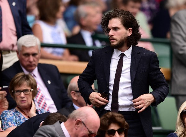 Kit Harington at Wimbledon in July 2015