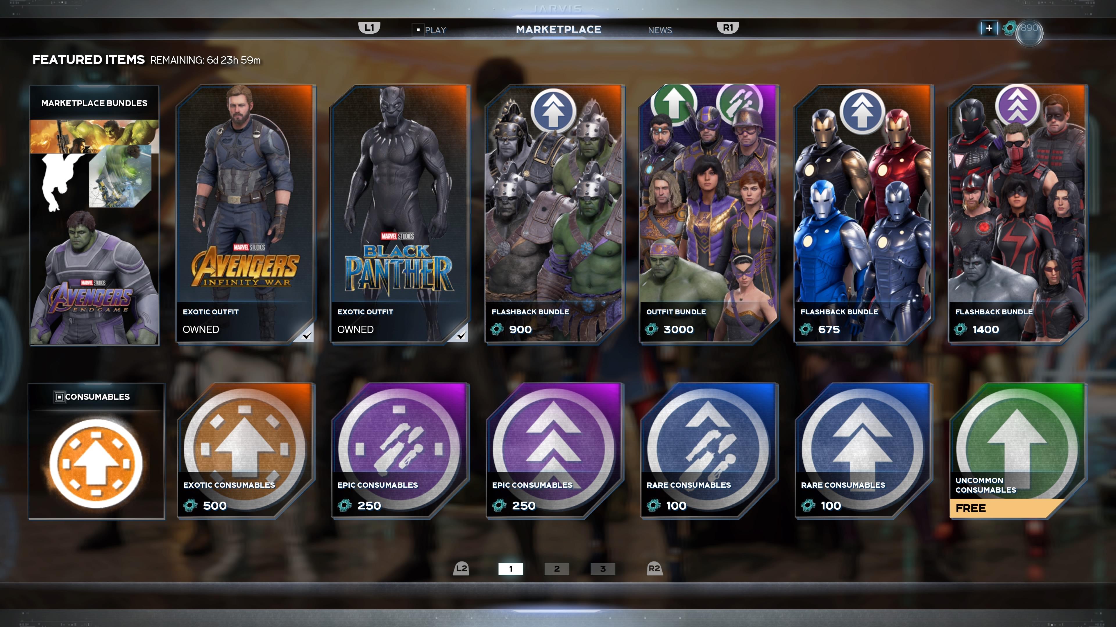 Marvel's Avengers in-game storefront