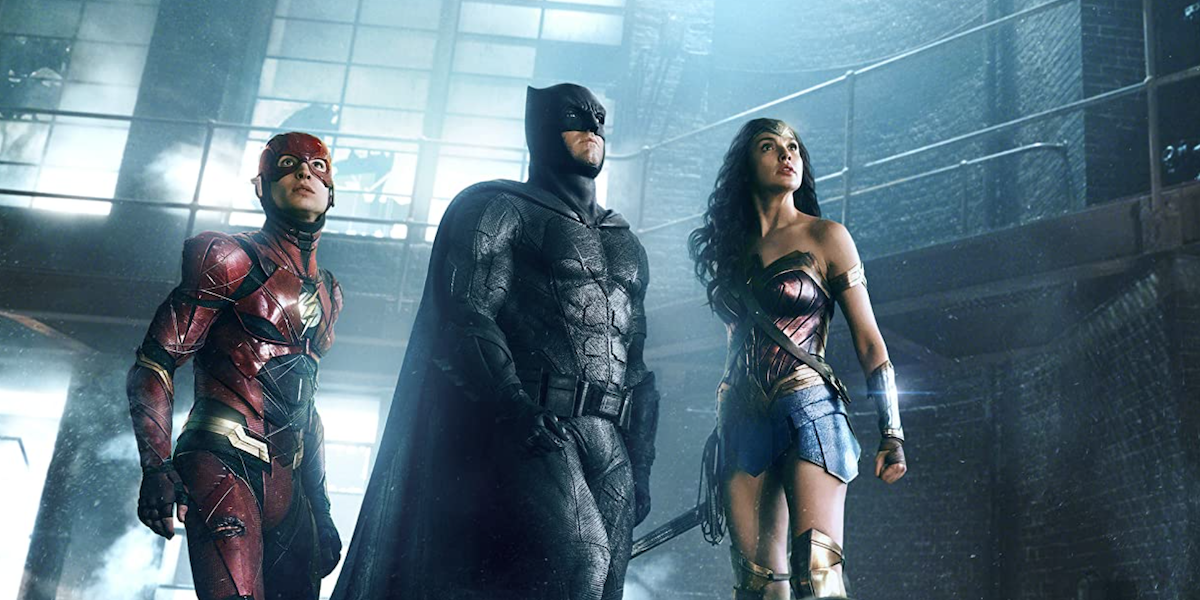Flash, Batman, and Wonder Woman in Justice League