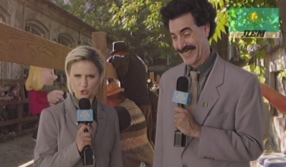 Borat Subsequent Moviefilm Tutar and Borat reporting together