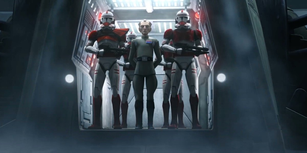 Tarkin with clone troopers in Star Wars: The Bad Batch