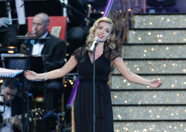 Katherine Jenkins performs at the VE Day 70: A Party to Remember concert on Horse Guards Parade