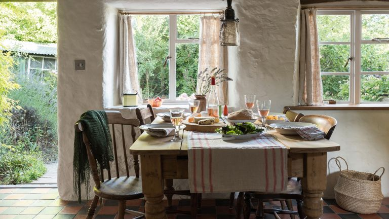 Rustic kitchen in period cottage