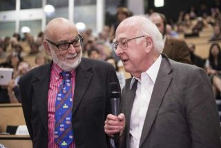 Francois Englert and Peter Higgs at CERN