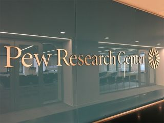 Pew Research Center office sign