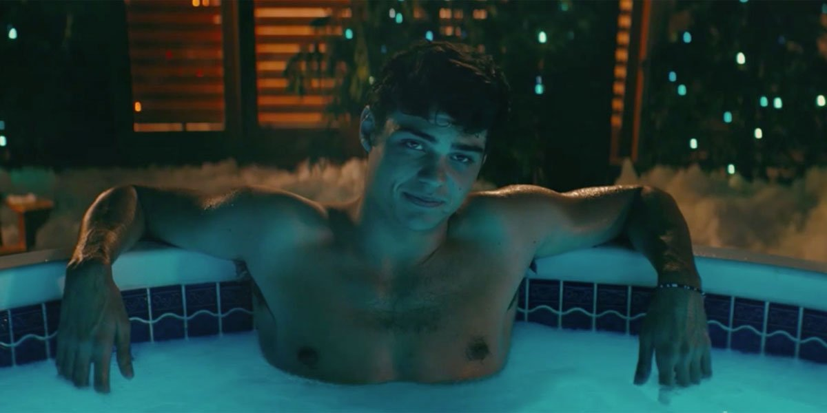Peter Kavinsky in hot tub in To All The Boys I've Loved Before 2018 on Netflix