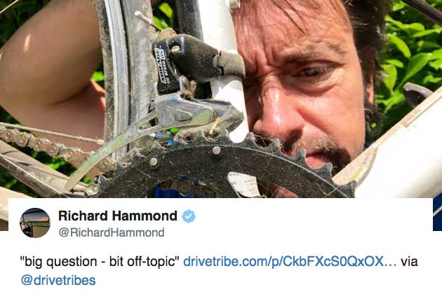 richard hammond asks for advice on taking up cycling as he recovers from car crash cycling weekly. Black Bedroom Furniture Sets. Home Design Ideas