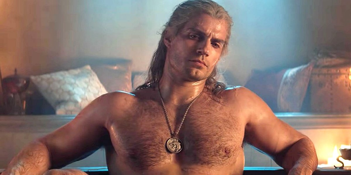 Henry Cavill shirtless The Witcher