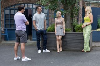 Tony Hutchinson tells his friends the truth in Hollyoaks