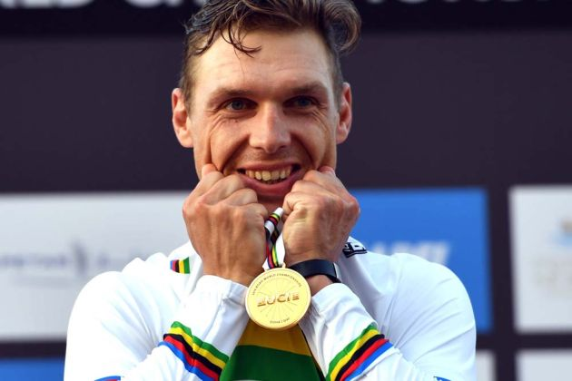 Tony Martin in the elite men's TT at the 2016 World Road Championships