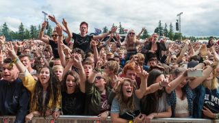 A picture of fans at T In The Park 2015