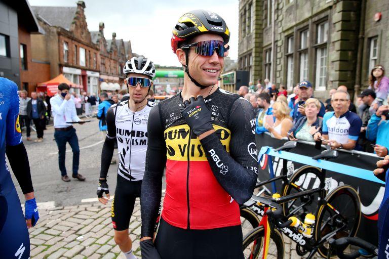 Wout van Aert at the Tour of Britain 2021