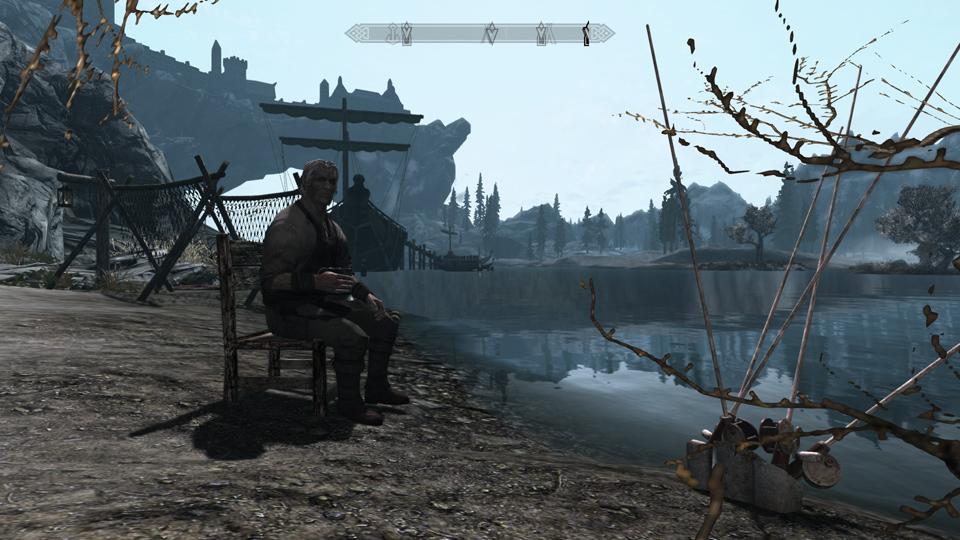 the best skyrim mods: fishing in skyrim