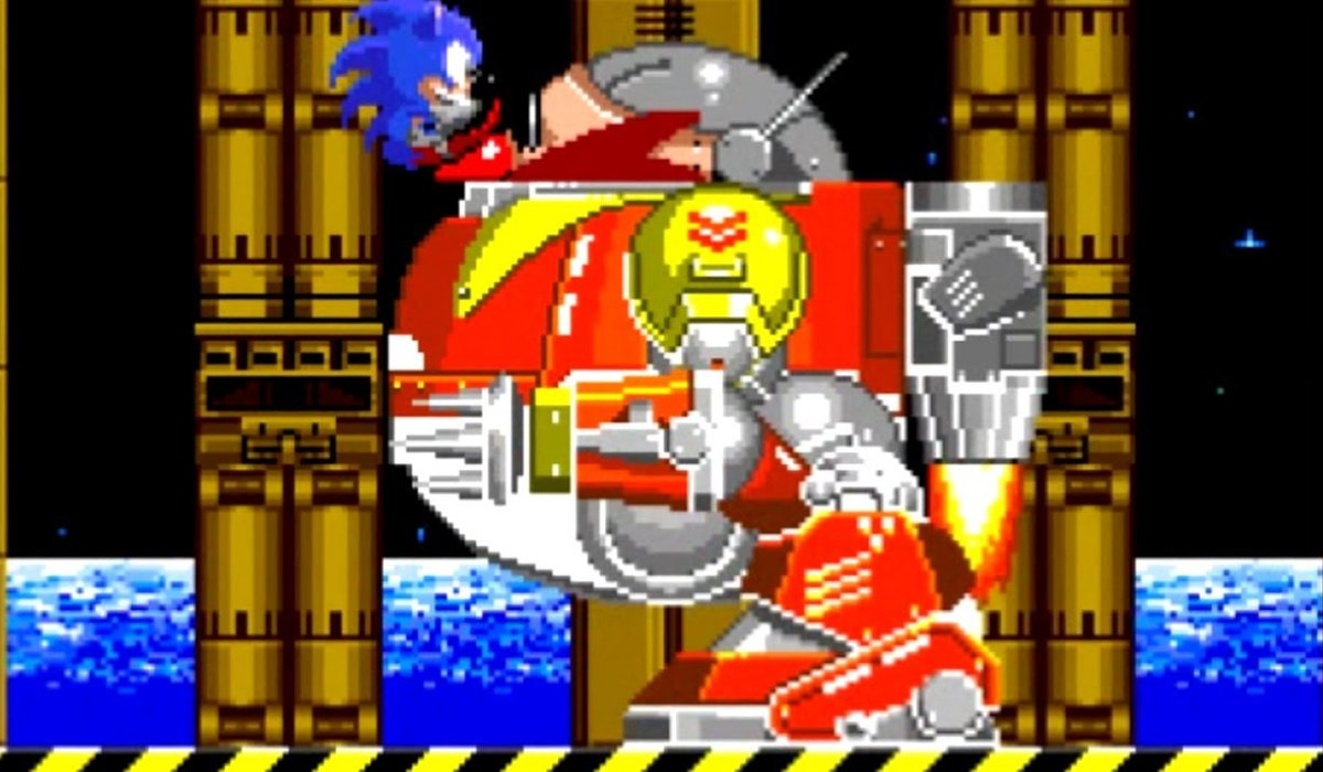 Sonic The Hedgehog 2 Sonic hits the Death Egg Robot