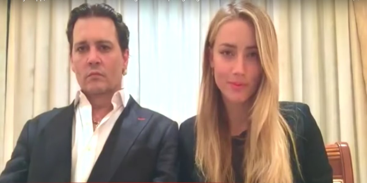 Johnny Depp and Amber Heard in the infamous apology video