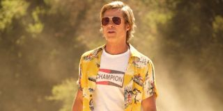 Brad Pitt wears sunglasses in Once Upon a Time in Hollywood
