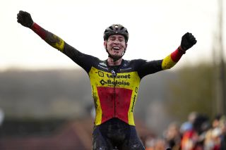 Belgian cyclo-cross champion Toon Aerts (Telenet Baloise Lions) wins the 2019 Hotondcross in Ronse, Belgium