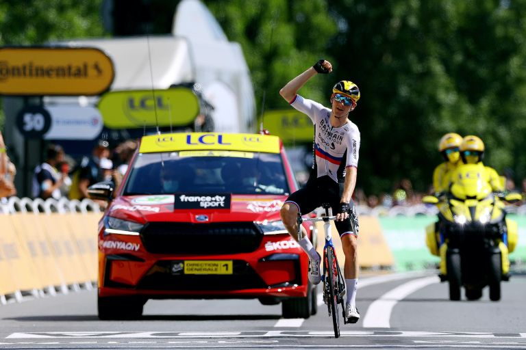 Matej Mohoric wins stage 19 of the 2021 Tour de France