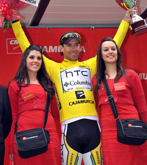 Frantisek Rabon tops podium, Tour of Murcia 2010, stage 4 ITT