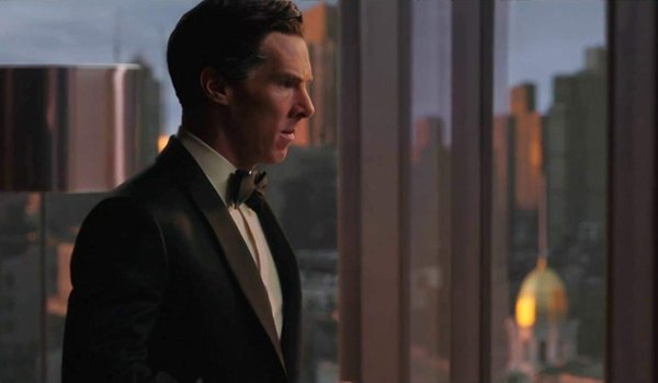 Doctor Strange Benedict Cumberbatch looks out of his windows in a tuxedo