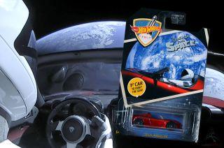 hot wheels spacex tesla roadster