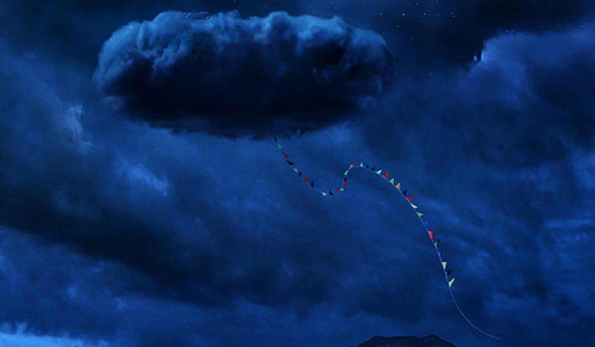 Nope poster, cloud Jordan Peele