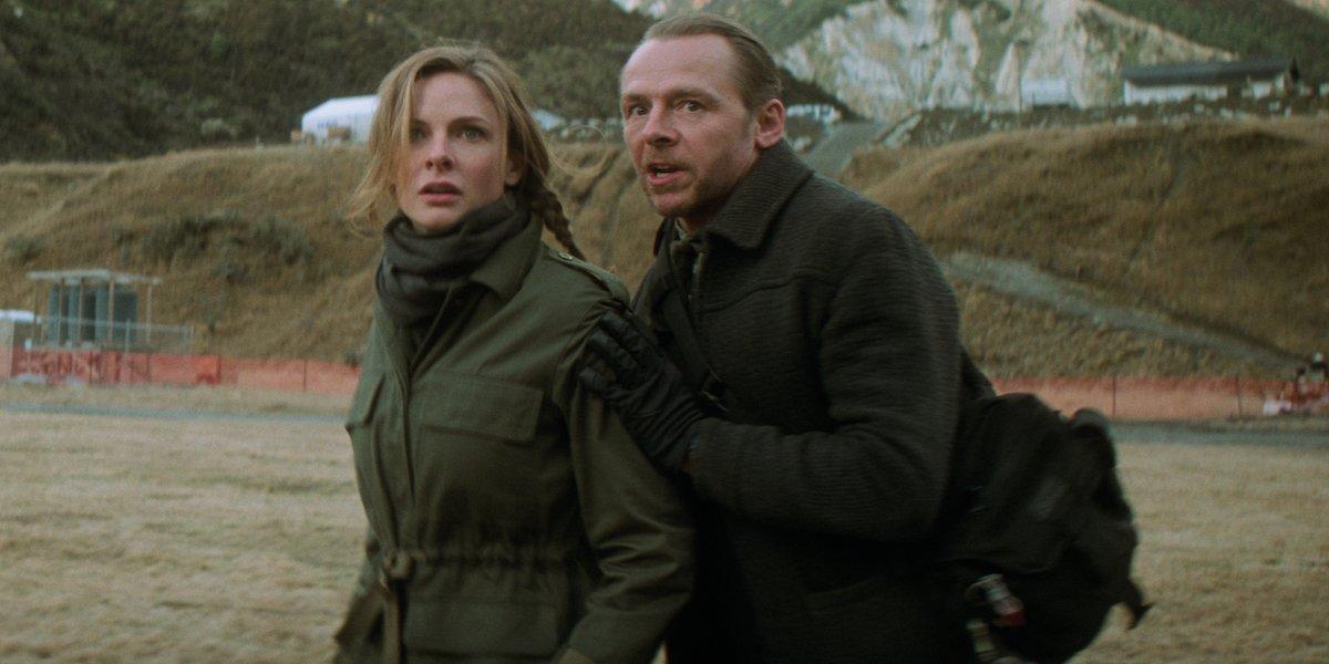 Simon Pegg and Rebecca Ferguson in Mission: Impossible Fallout
