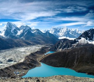 Gokyo Lakes in the Himalayas in Nepal.