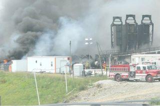 Ohio fracking fire response