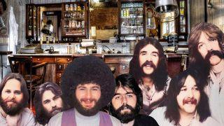 Bearded rockers in a barber shop