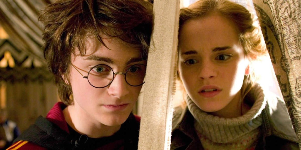 Daniel Radcliffe and Emma Watson in Harry Potter and the Goblet of Fire