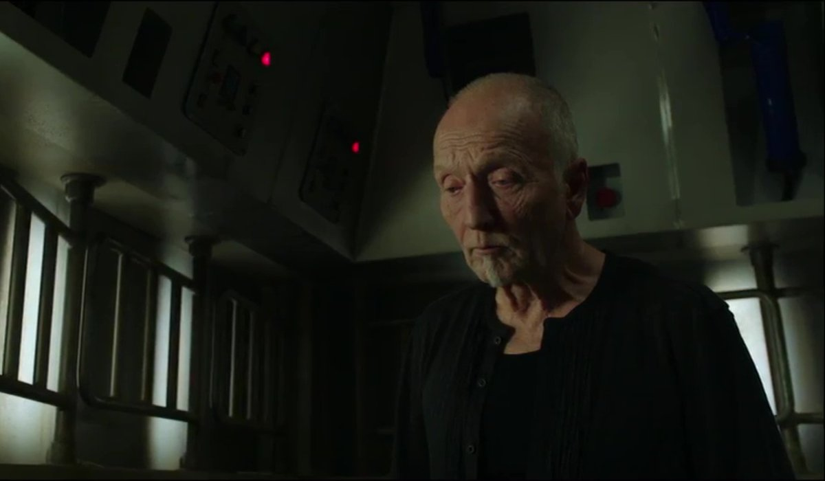 Tobin Bell stands in one of the trap rooms in Jigsaw.