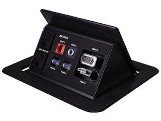 Altinex Ships TNP530 Tilt 'N Plug Retractable Tabletop Interconnect Box