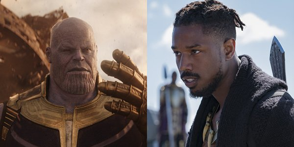Thanos and Killmonger