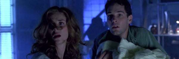 Halloween: The Revenge of Michael Myers Paul Rudd protecting the baby from Michael