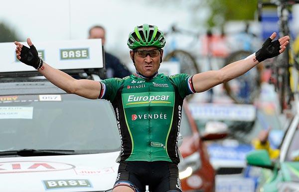 Thomas Voeckler wins, Brabantse Pijl 2012