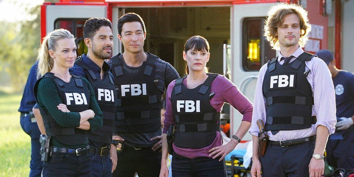 Matthew Gray Gubler, A.J Cook, Paget Brewster, Adam Rodriguez, and Daniel Henney in Criminal Minds S