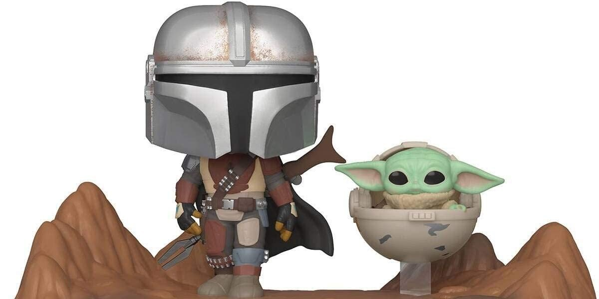 Mando and Baby Yoda Funko Pops