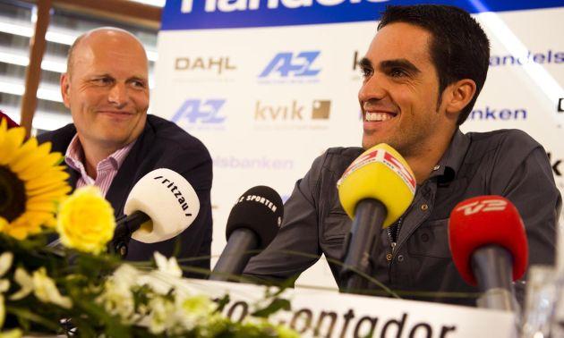 Alberto Contador and Bjarne Riis, August 2010