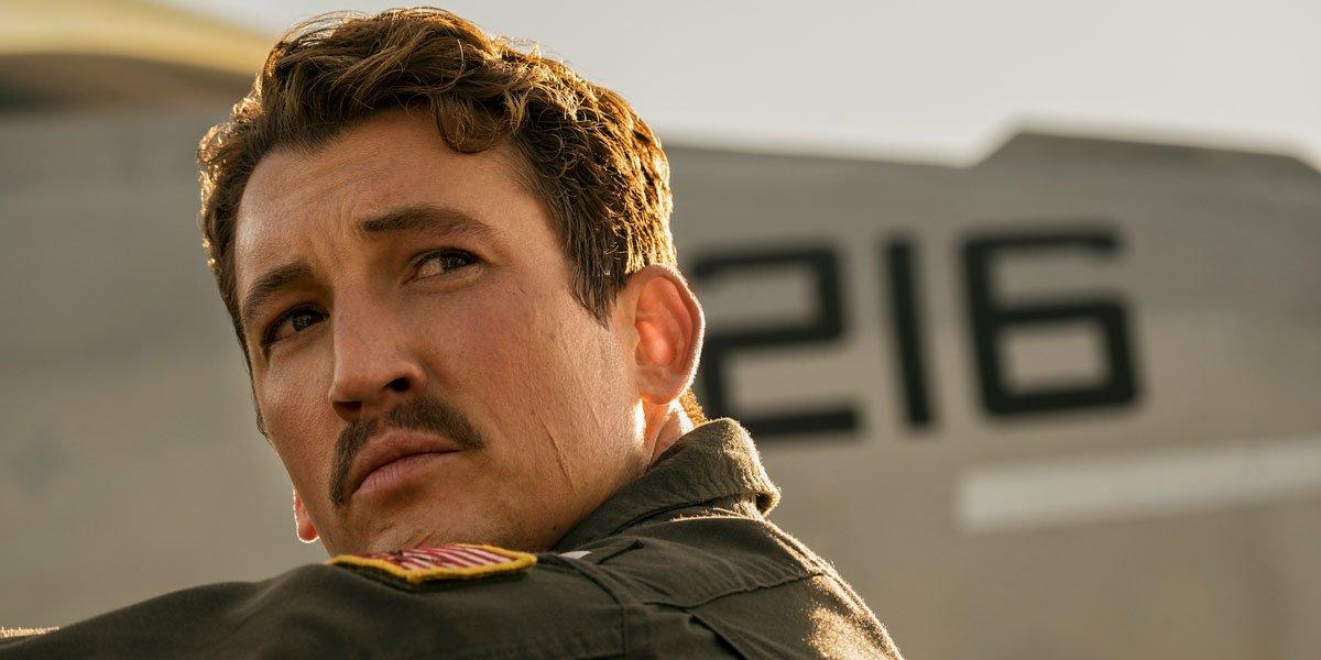 Miles Teller in Top Gun Maverick 2021