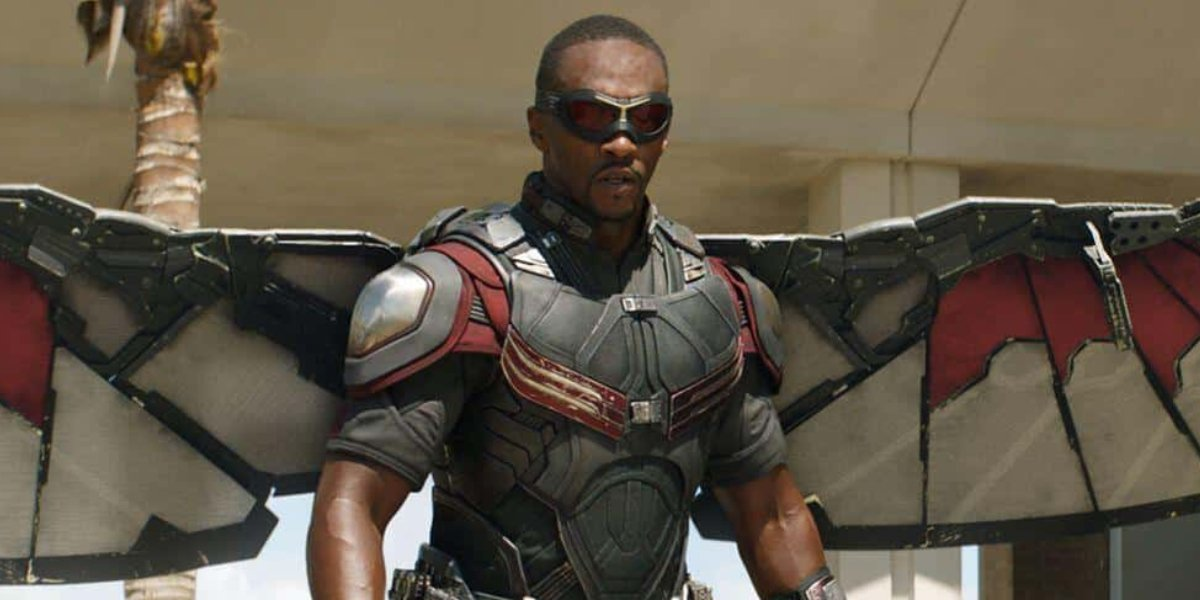 Anthony Mackie as Sam Wilson in The Falcon and the Winter Soldier