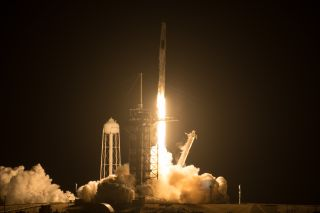 SpaceX's Crew-2 mission launches toward the International Space Station on April 23, 2021.