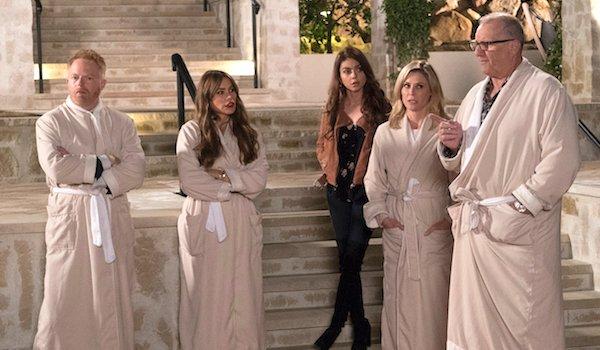 modern family in robes