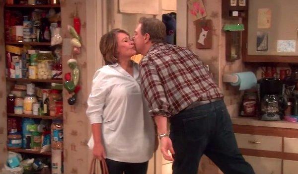 roseanne dan kiss roseanne revival abc