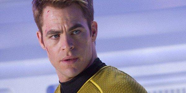 Chris Pine as the Captain in Star Trek
