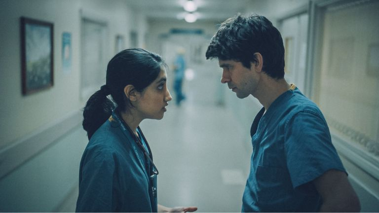 Ben Whishaw and Ambika Mod in the This is going to hurt tv series