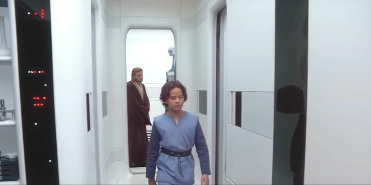 A young Boba Fett with Obi Wan Kenobi