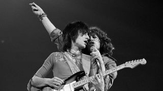 Ronnie Wood and Mick Jagger in 1975