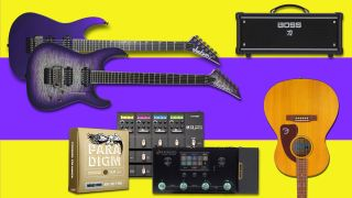 Save up to $300 off a new Jackson, plus big discounts on Epiphone, Ernie Ball, Line 6 and Boss gear at Sweetwater